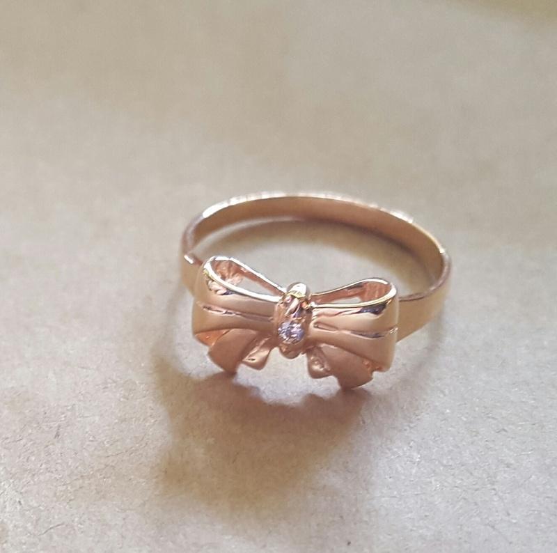 birthstone bow ring