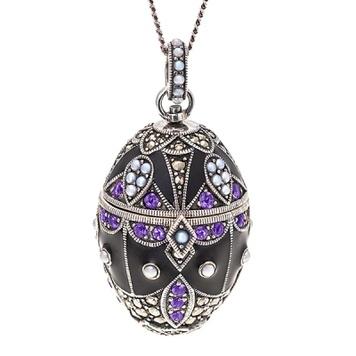 jewelled egg locket
