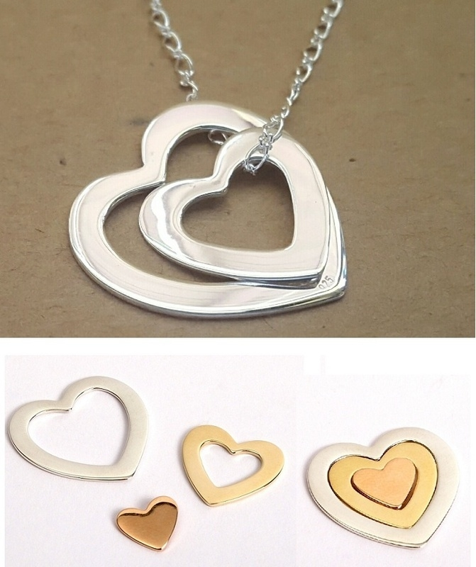 nesting heart pendants