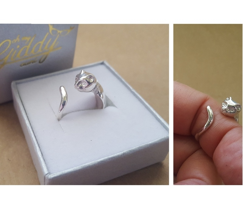 cat ring silver or gold