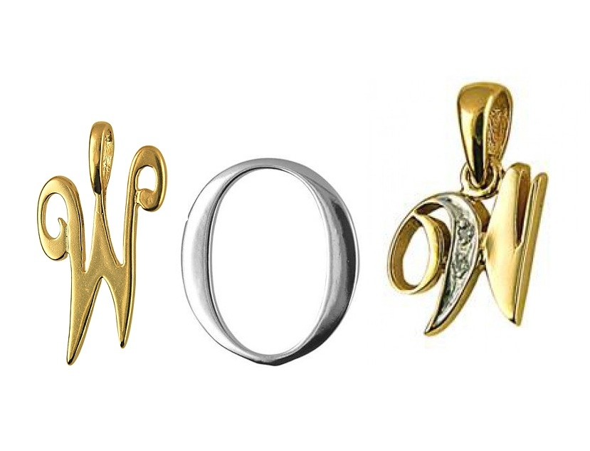 wow letter pendants
